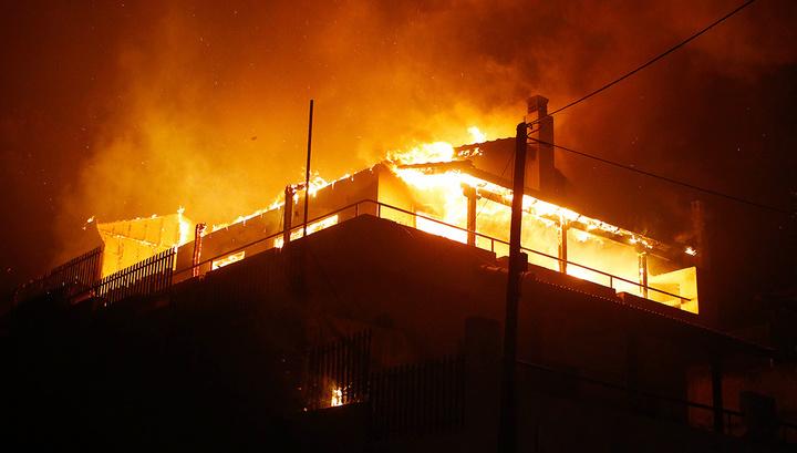 Под Иркутском тушат крупный пожар
