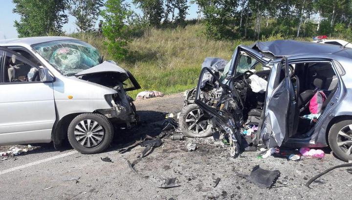 Смертельная авария с участием трех машин в Башкирии попала на видео