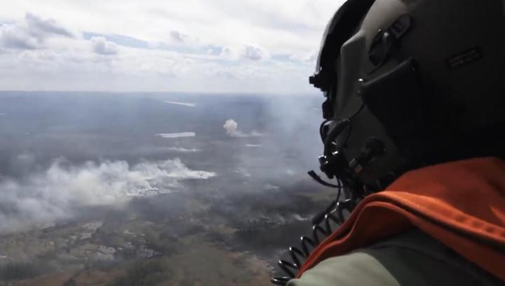 Шведские ВВС сбросили бомбу на лесной пожар