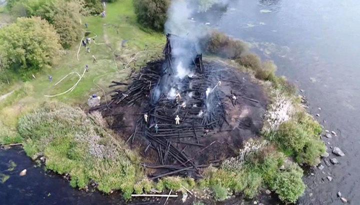 Сгоревший в Карелии храм XVIII века могли поджечь