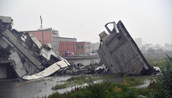 Мост смерти в Генуе. Обрушение моста в Генуе: погибли десятки человек/