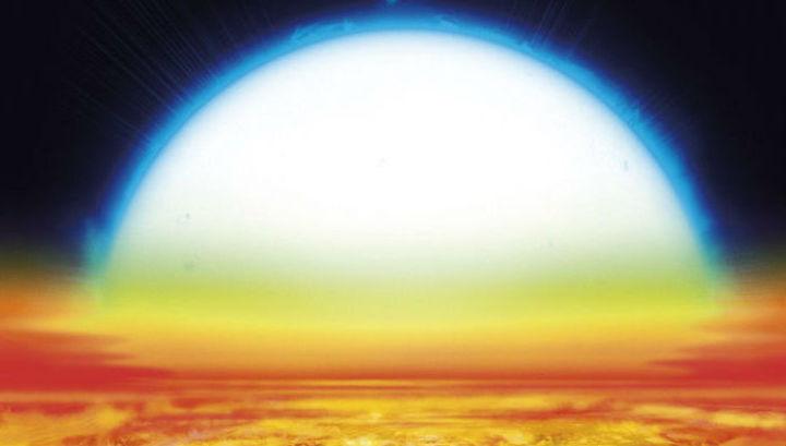 Видимый диаметр родительской звезды при взгляде с поверхности KELT-9b должен быть примерно в 70 раз больше, чем у Солнца с Земли.