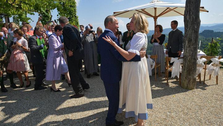 Танец Путина и казачьи песни: как гуляли на свадьбе Кнайсль и Мейлингера