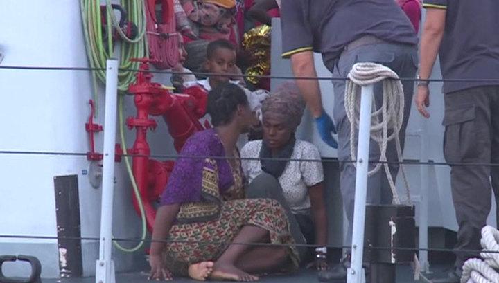 Мигранты блокированы на судне: на итальянский берег пустили лишь заболевших
