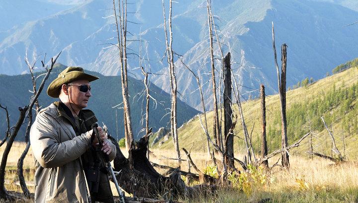 Выходные на природе: Путин, Шойгу и Бортников прогулялись по тувинской тайге
