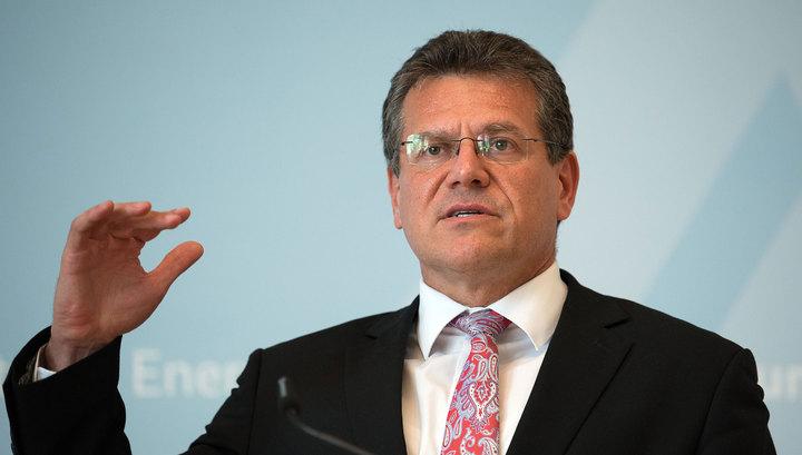 Шефчович разочарован итогами консультаций с Россией и Украиной по транзиту газа