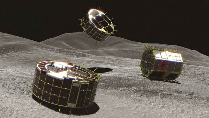 Японский зонд сбросил на астероид Рюгу первые роверы