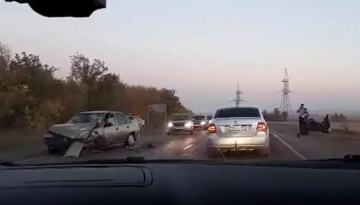 Регистратор запечатлел смертельное ДТП с участием мотоциклиста в Башкирии