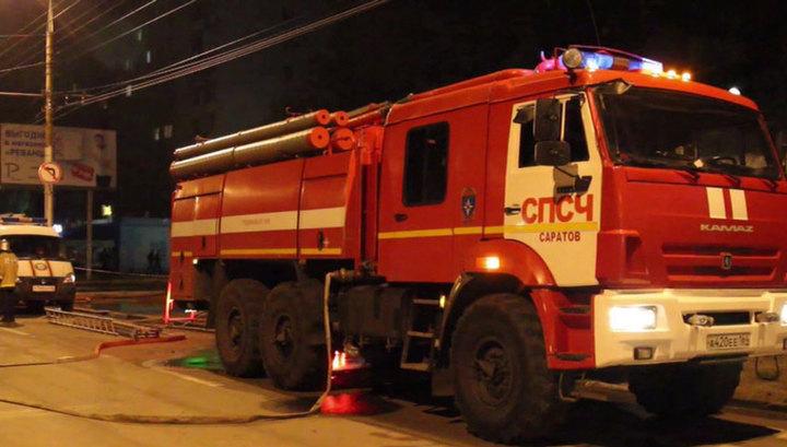 Пожар в Саратове: погиб один человек
