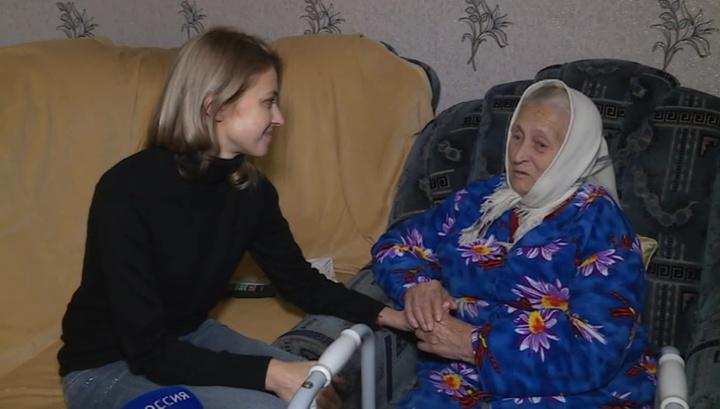 Наталья Поклонская в родном селе: трогательные кадры встречи с бабушкой