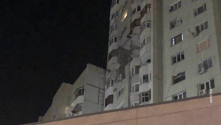 Взрыв в Кишиневе: люди оказались заблокированы в своих квартирах
