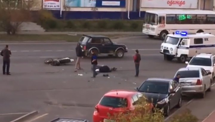 Поторопившийся водитель убил байкера в Ангарске