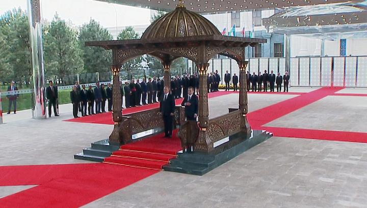 Путин в Узбекистане: в Ташкенте прошла церемония официальной встречи
