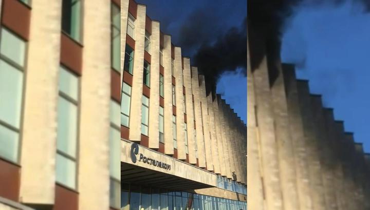 В Петербурге загорелся центральный офис