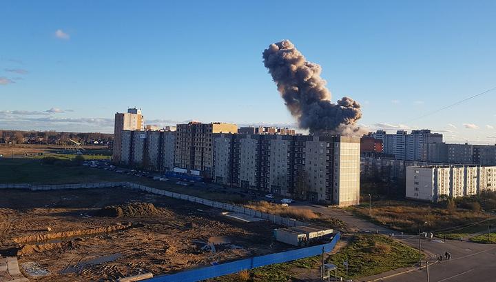 В Ленинградской области прогремел взрыв на пиротехническом заводе. Видео