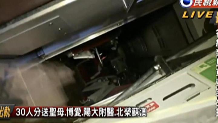 Крушение поезда на Тайване: 17 погибших, 132 пострадавших