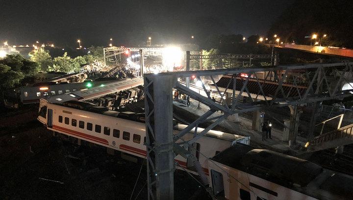 Крушение поезда на Тайване: уточненные данные