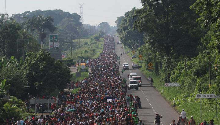 Трамп обеспокоен караваном беженцев из Гондураса