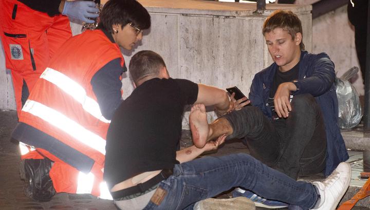 ЧП в Риме: пострадали 15 российских болельщиков