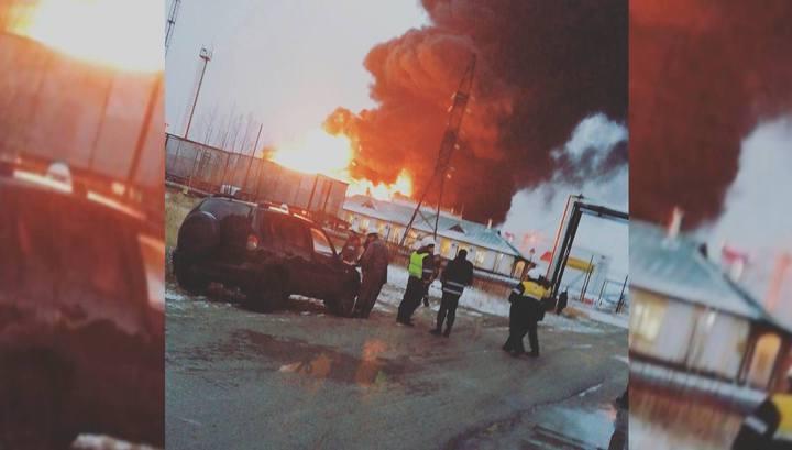 Сильный пожар на нефтебазе в Югре локализован