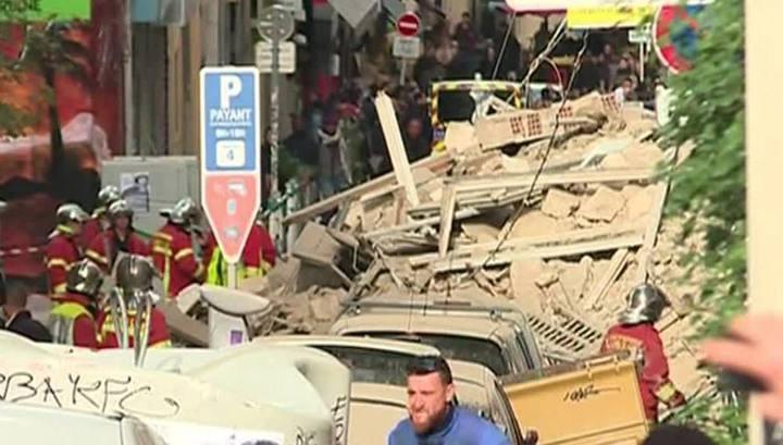 В Марселе после обрушения дома пропали без вести девять человек