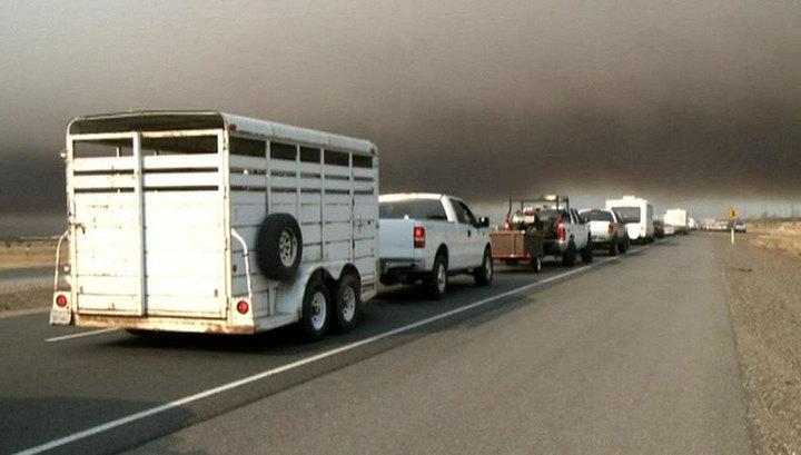 Из-за лесных пожаров в Калифорнии эвакуирован целый город