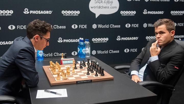 Карлсен и Каруана установили ничейный рекорд в матче за шахматную корону