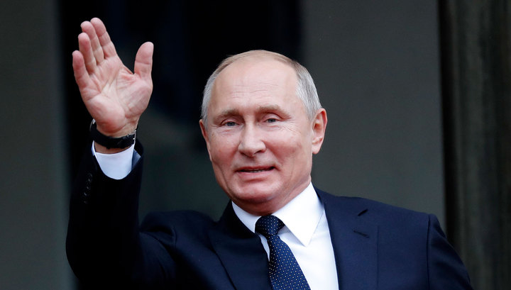 В Крыму Путин прокатился на электрокаре и заглянул в японский сад