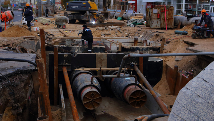 В Новосибирске восстановлено теплоснабжение, нарушенное из-за аварии на водопроводе