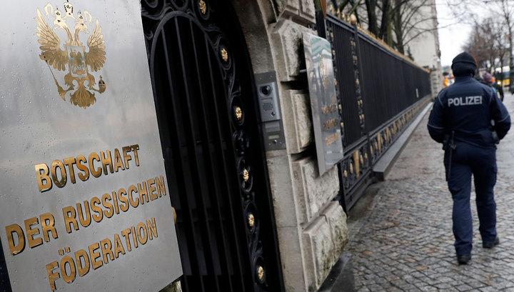 Российское посольство в Берлине оцеплено