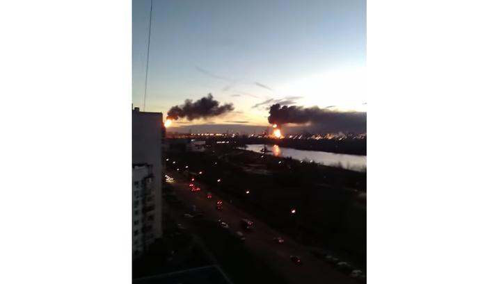 Названа причина пожара на НПЗ в Капотне. Возгорание ликвидировано