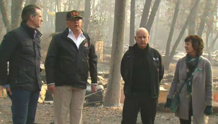 Трамп сравнил природные пожары, бушующие в Калифорнии, с монстром