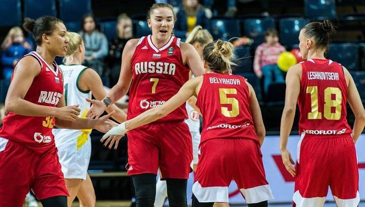 Российские баскетболистки стали первыми в отборе к чемпионату Европы-2019