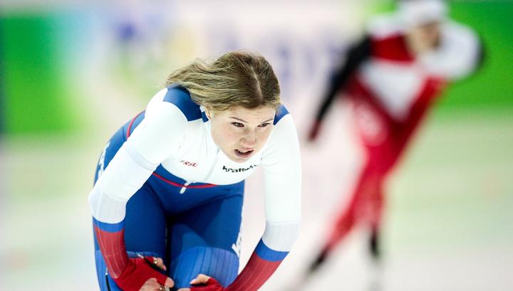 Россиянки выиграли командный спринт на Кубке мира по конькобежному спорту