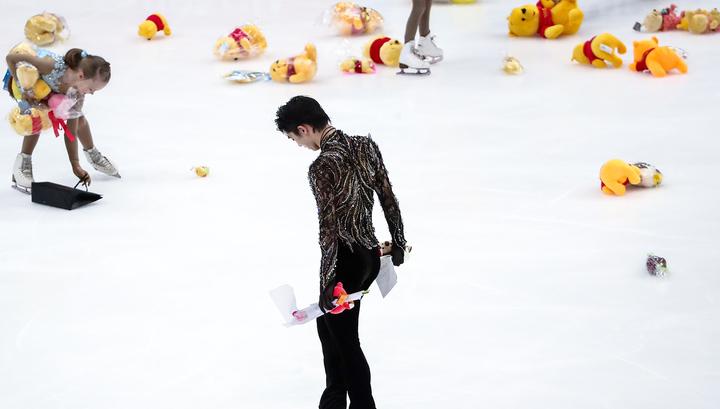 Московские зрители подарили японскому фигуристу Ханю 30 мешков Винни-пухов