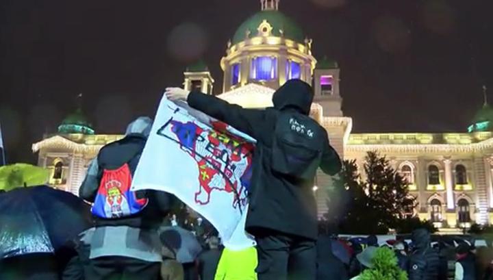 В Белграде протестуют против соглашений с Косово