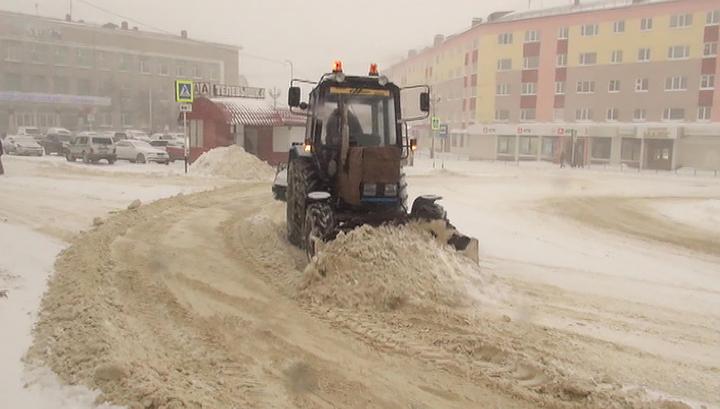 В Магаданскую область пришел мощный снежный шторм