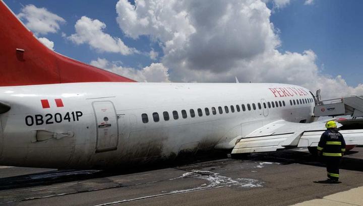 Перуанский пассажирский борт экстренно приземлился в Боливии