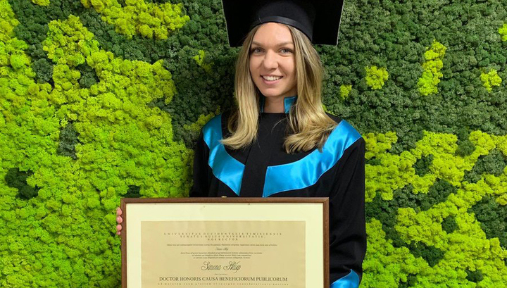 Теннисистка Халеп стала почетным доктором румынского университета