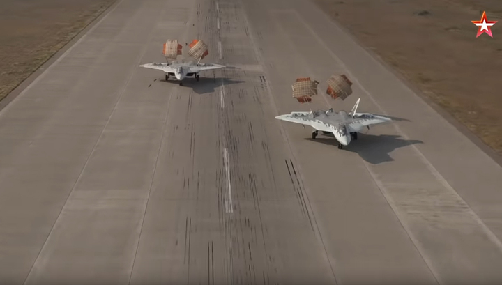 Синхронную посадку 57-х