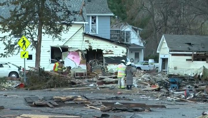 Взрыв жилого дома в США попал на видео