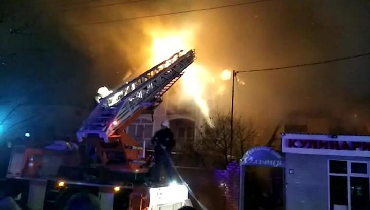 Крупный пожар в Анапе: открытое горение ликвидировали