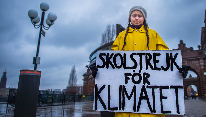 В Швеции школьница отказалась ходить на занятия, пока власти не сократят выбросы в атмосферу