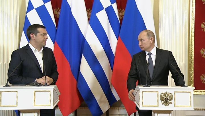 Путин и Ципрас обсудили подключение Греции к ТП и другие аспекты сотрудничества