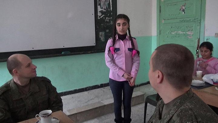 Военные из России привезли сирийским детям две тонны новогодних подарков