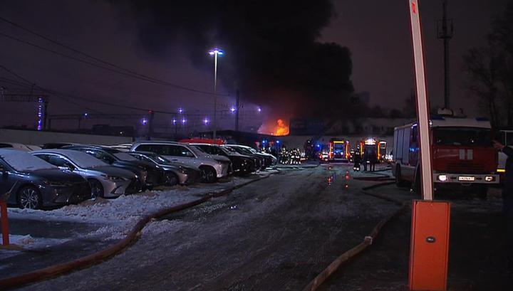 Пожар на востоке Москвы локализован