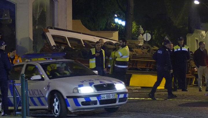 В Лиссабоне 28 человек пострадали при сходе трамвая с рельсов