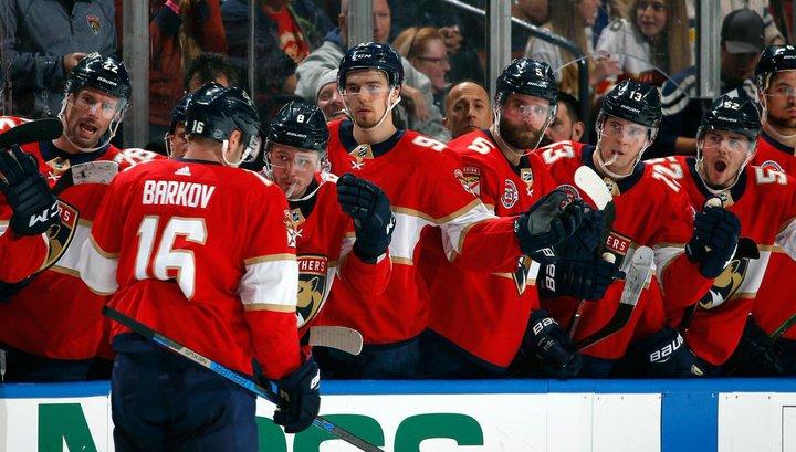 Александр Барков получил первую звезду дня от НХЛ