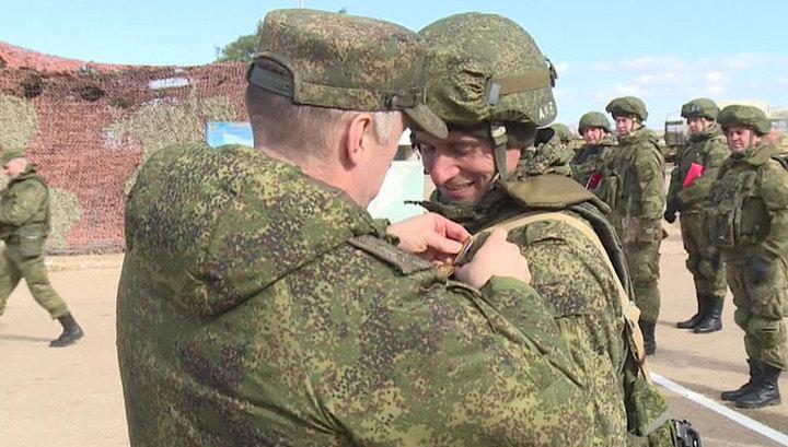 Сотрудники российской военной полиции награждены за службу в Сирии