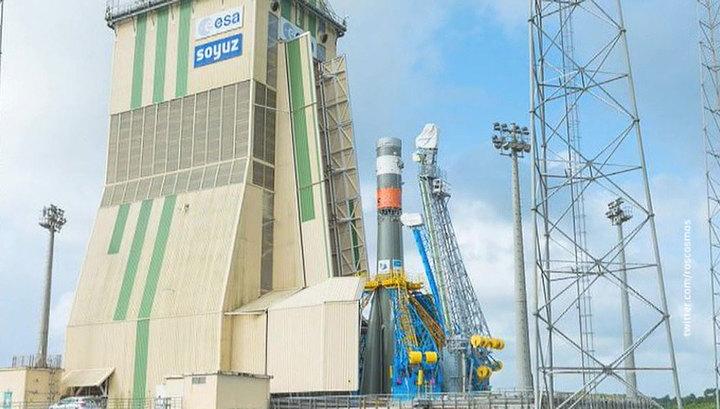 """Ракета """"Союз"""" стартует с французского космодрома Куру сегодня вечером"""